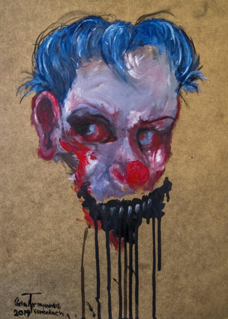 Clown | 41x29,5 cm | Olie på træ