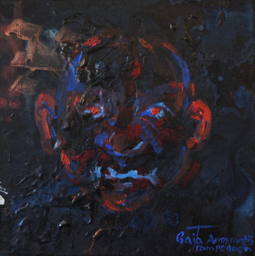 Portræt | 20x20 cm | Olie og akryl på lærred