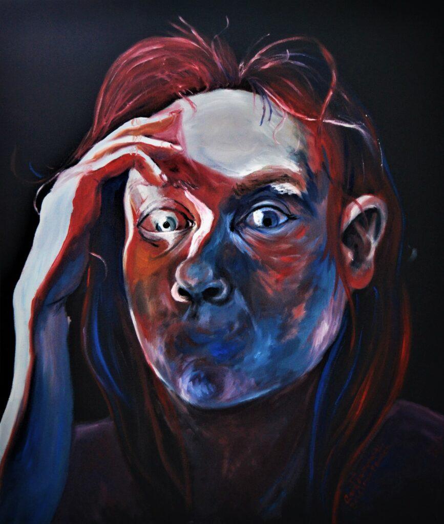 selfportrait confused
